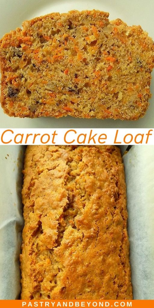 Carrot cake loaf pin