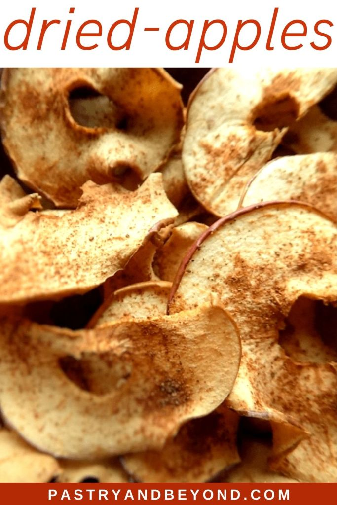 Pin of dried apples