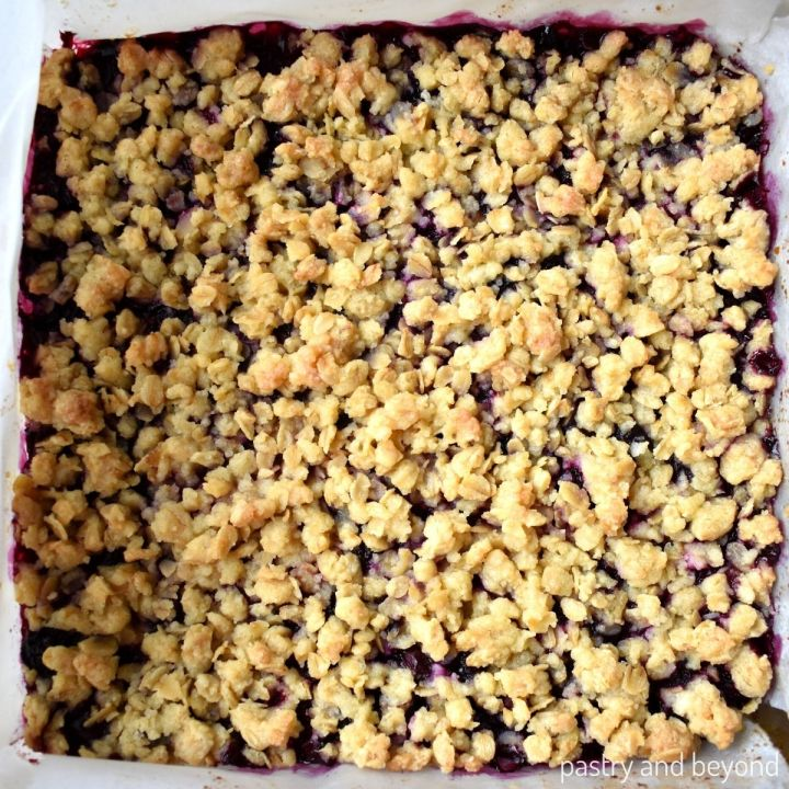 Blueberry bar after baked.