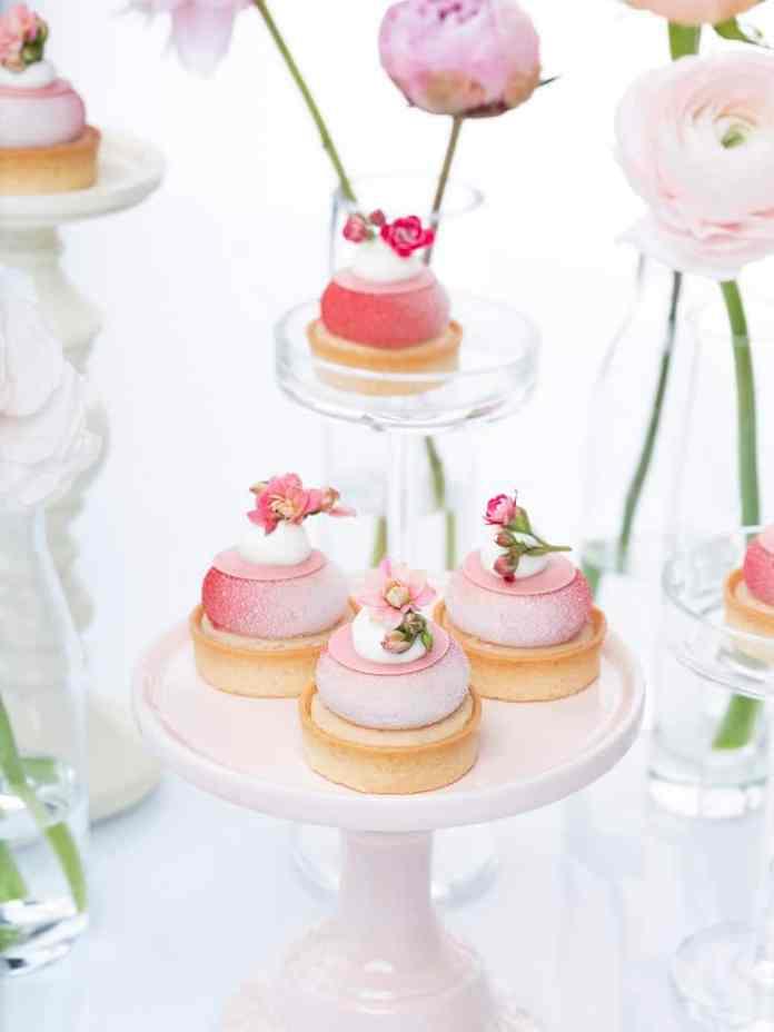 Raspberry Rose Lychee Tarts