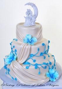 Pastry Palace Las Vegas - Wedding Cake 916 - Drapes and Vines