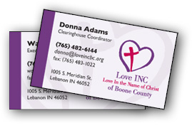 Love INC business cards