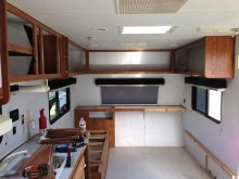 redesign of the cabinets in our travel trailer remodel
