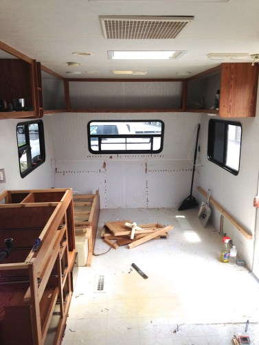 Demo in our travel trailer remodel