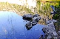 the still waters of camas lake montana
