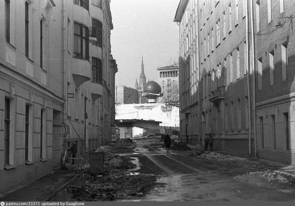 Малый Каковинский пер снимок сделан в 1987 году ...