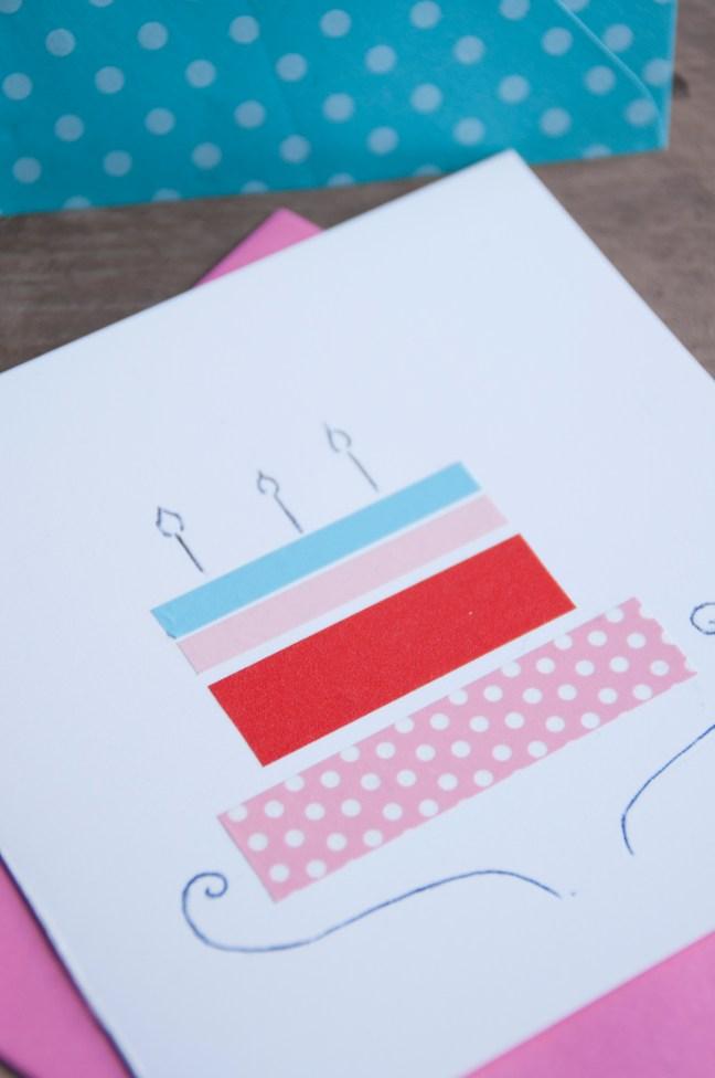 masking tape verjaardagskaart
