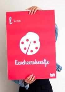poster-kinderkamer-decoratie-muur-rood-lieveheersbeestje