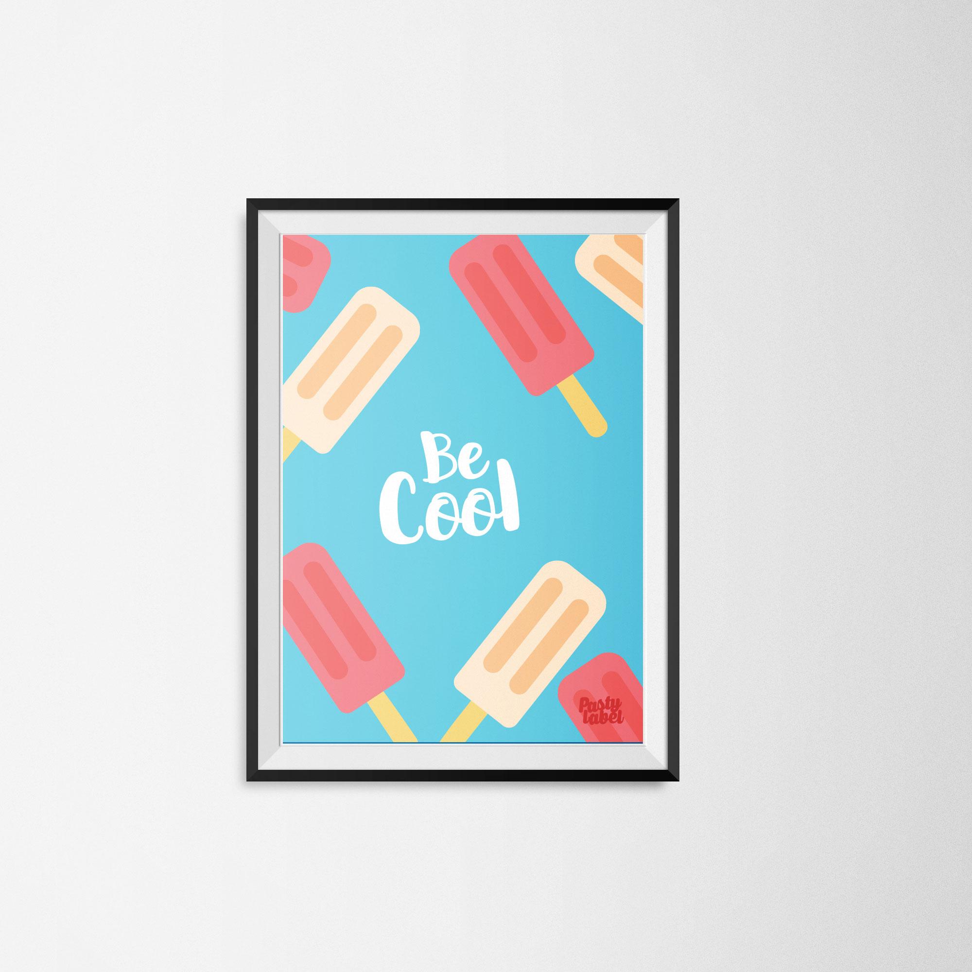 ijsjes-kinderkamerposter
