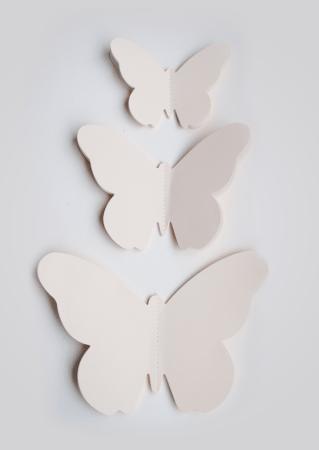 muurdecoratie vlinder 3D muursticker vlinder vlindersticker wit