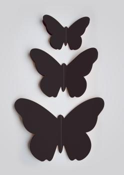 muurdecoratie vlinder 3D muursticker vlinder vlindersticker zwart