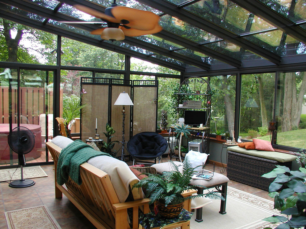 glass roof sunroom design and options