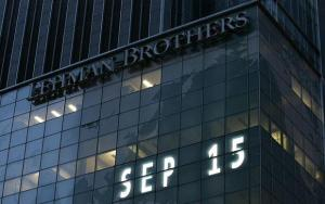 Lehman Brothers world headquarters is shown Monday, Sept. 15, 2008 in New York. Lehman Brothers, burdened by $60 billion in soured real-estate holdings, filed a Chapter 11 bankruptcy petition in U.S. Bankruptcy Court after attempts to rescue the 158-year-old firm failed. (AP Photo/Mark Lennihan)
