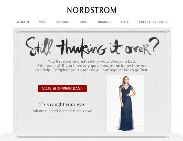 Nordstroms Abandoned Cart