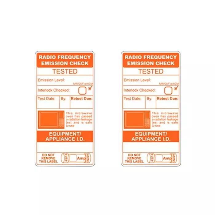 Microwave Emission Test Labels (x150)