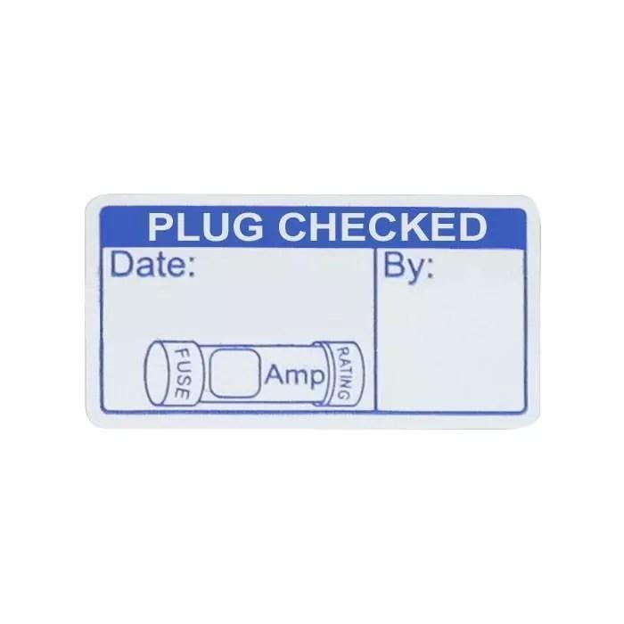 Plug Check Labels (x500)