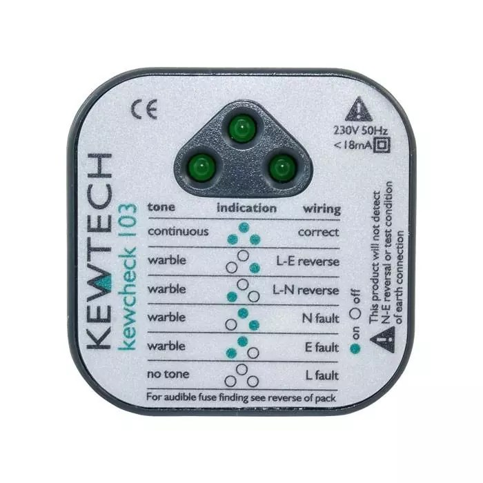 Kewtech Kewcheck 103 Socket Checker