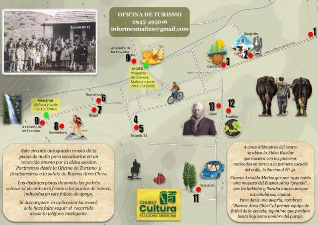 Guías El Maitén: Mapa Circuito Buenos Aires Chico