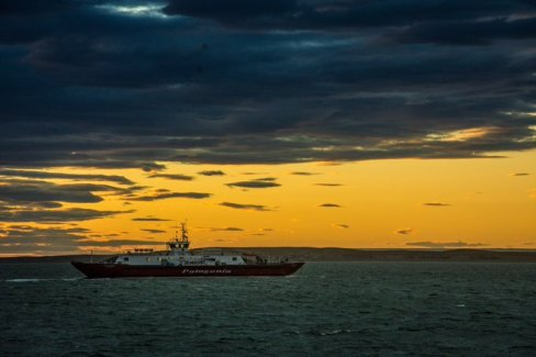 Estrecho de Magallanes, Cruce Primera Angostura para llegar a Ushuaia