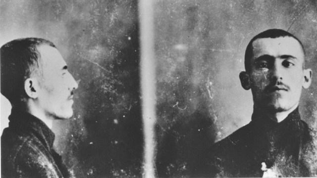 Perfil y frente de Simón Radowitzky
