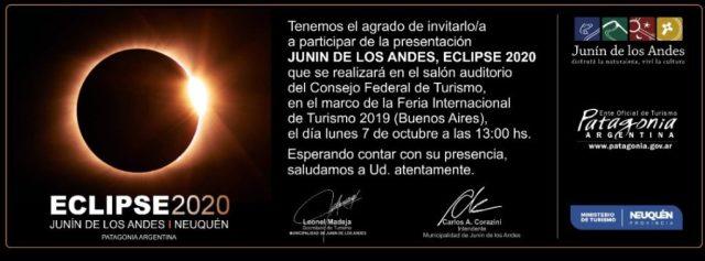 Presentación del Eclipse 2020 en la Feria Internacional de Turismo