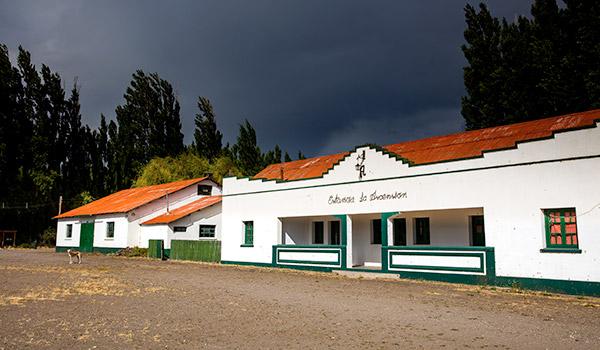 Casco histórico del Parque Patagonia, inicio de los senderos