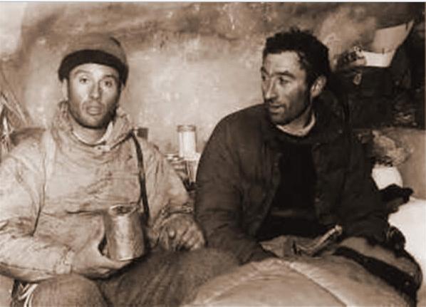 Escaladores profesionales que llegaron a La Leona.