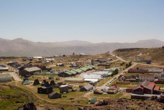 Termas de Copahue en la Patagonia