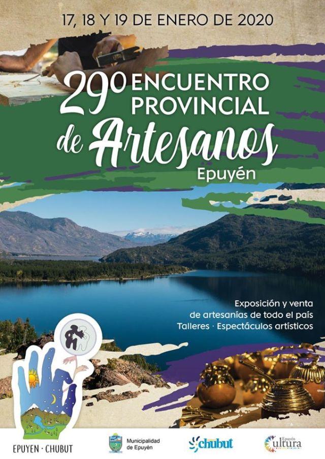 Encuentro provincial de artesanos en Epuyén, Fiestas comarcales 2020.