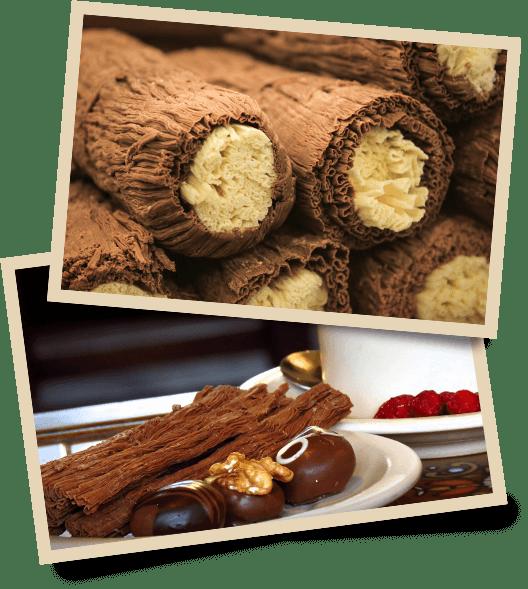 Bariloche y el chocolate en rama.