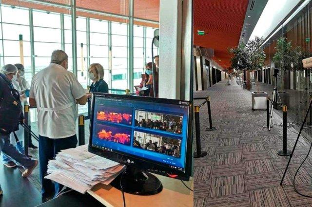 Terminales de control en aeropuertos en el marco del cierre de fronteras por el Coronavirus.