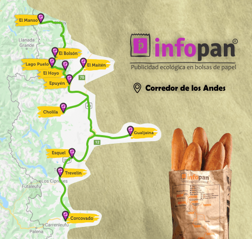 Mapa en la bolsa de Infopan