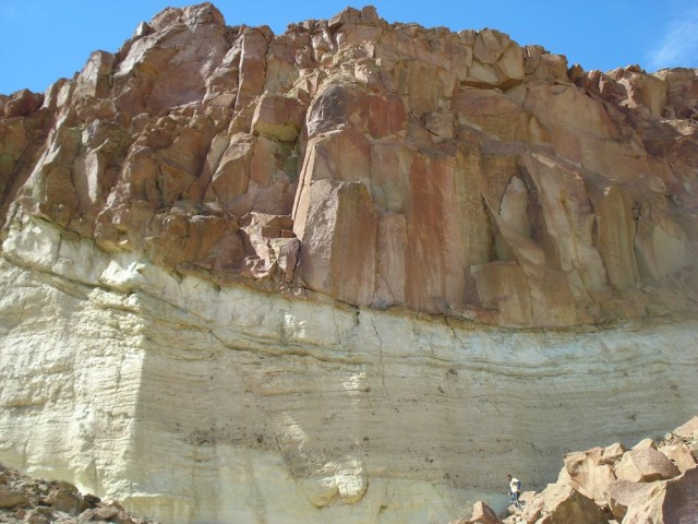 Paredón de roca en Piedra Parada.