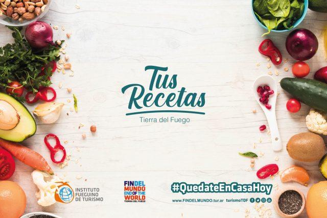 Banner de las recetas fueguinas. Tierra del Fuego.
