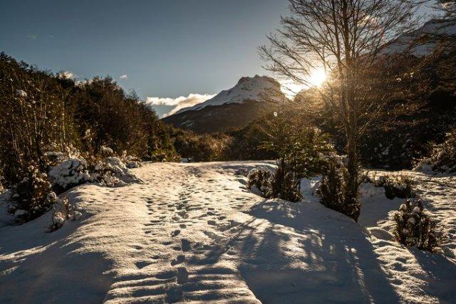 Una de las fotos de la comunidad de Tierra del Fuego.