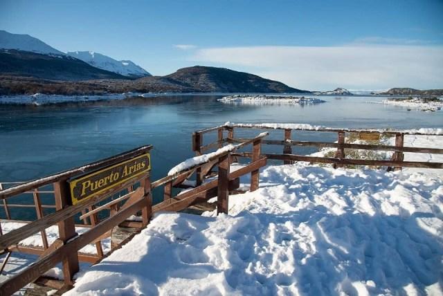 Parque Nacional Tierra del Fuego en invierno.
