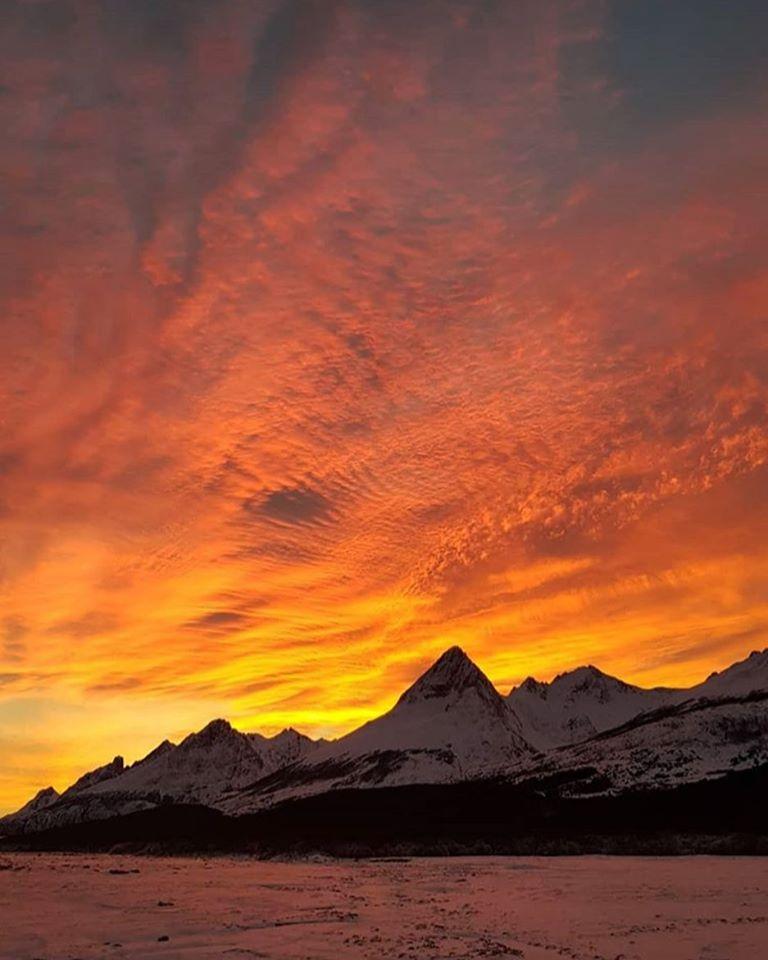 Atardecer de invierno en Tierra del Fuego