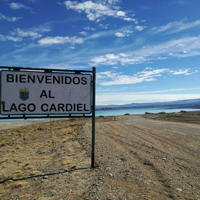 Lago Cardiel, historia.