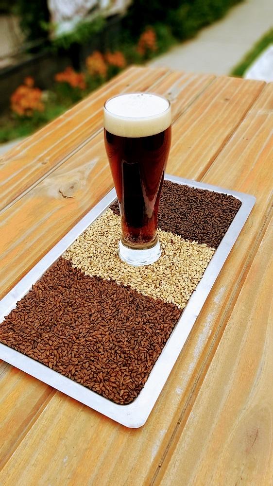 Cerveza negra con frambuesa, Esquel.