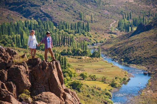 Nuquén, mirador, río. Patagonia verano 2021.