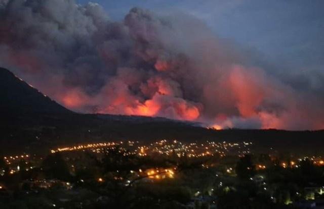 Incendio en la Comarca Andina.