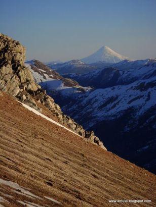 Cerro bandera moquehue & volcan lanin