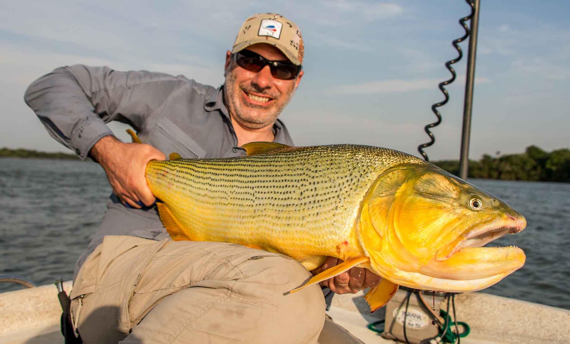 dorado in Argentina, Patagonia Fly Fisherman