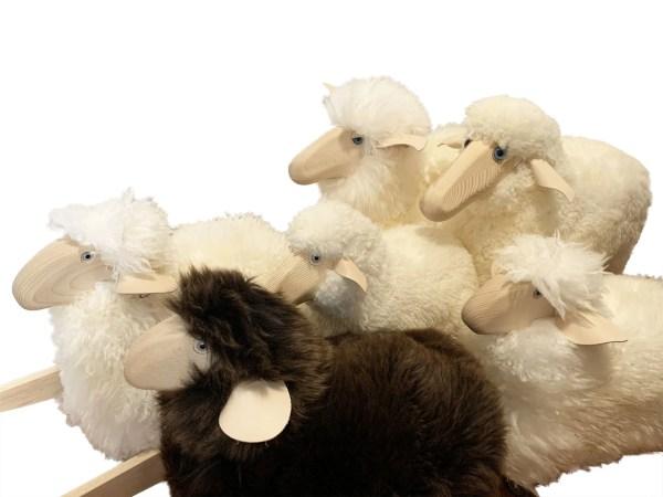 Pecore per decorare e giocare a dondolo