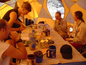 The comforts of base camp