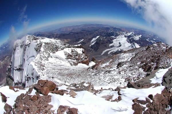 Aconcagua's summit ridge