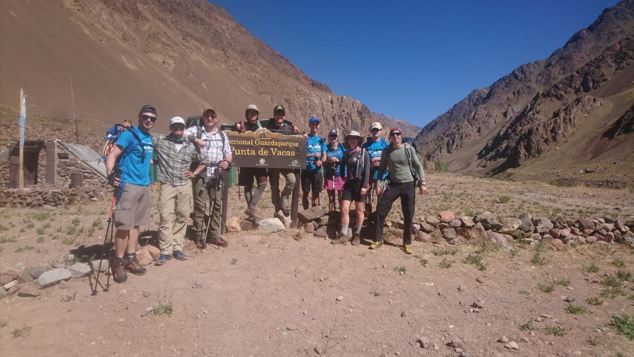 On their way to Base Camp!