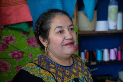 Ivonn Ena Paz Delgado in her store/studio.