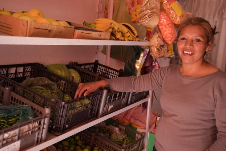 Lazara Cristobal Medina, runs a tienda, Recauderia a Vale, in Colonia Benito Juarez, state of Puebla.