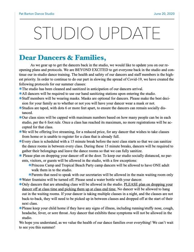 Summer Protocols Bulletin